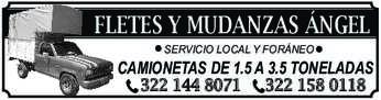 anuncio de FLETES Y MUDANZAS ÁNGEL SERVICIO LOCAL Y FORÁNEO  CAMIONETAS DE 1.5 A 3.5 TONELADAS 322 144 8071 322 158 0118