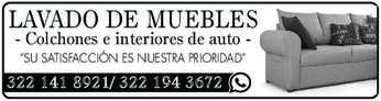 """anuncio de LAVADO DE MUEBLES - Colchones e interiores de auto  """"SU SATISFACCIÓN ES NUESTRA PRIORIDAD""""  322 141 8921/ 322 194 3672"""